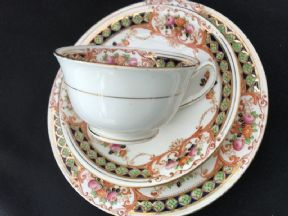 Phoenix china Edwardian tea trio